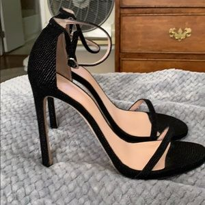 Stuart Weitzman open toe heels with ankle strap